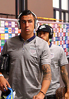 SAN JOSE, COSTA RICA - September 06, 2013: Geoff Cameron (20) of the USA MNT enters the stadium before a 2014 World Cup qualifying match against Costa Rica at the National Stadium in San Jose on September 6. USA lost 3-1.