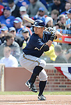 Norichika Aoki (Brewers),.APRIL 8, 2013 - MLB :.Norichika Aoki of the Milwaukee Brewers at bat during the baseball game against the Chicago Cubs at Wrigley Field in Chicago, Illinois, United States. (Photo by AFLO)