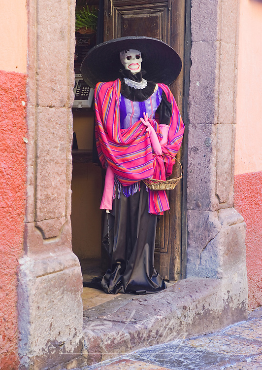Mexico, Guanajuato, San Miguel de Allende, Day of the Dead Katrina Decoration