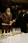 Israel, Bnei Brak. Hanukkah at the Premishlan congregation&amp;#xA;<br />