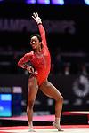 .DOUGLAS Gabrielle. World Championships Gymnastics Womens All Around Final  2015 SSE Hydro Arena. .DOUGLAS Gabrielle.