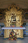 Altar in chapel of Saint George Castle of Xàtiva or Jativa, Valencia province, Spain