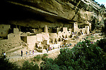 Colorado: Mesa Verde National Park, Cliff Palace, comesa101  .Photo copyright Lee Foster, 510/549-2202,  lee@fostertravel.com, www.fostertravel.com