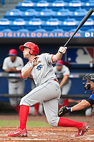 Darin Ruf (12) of the Clearwater Threshers during a game vs. the St. Lucie Mets May 30 2010 at Digital Domain Park, Port St. Lucie Florida. St. Lucie won the game against Clearwater by the score of 3-2. Photo By Scott Jontes/Four Seam Images