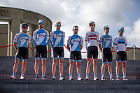 Isra&euml;l Cycling Academy at the pre race Team Presentation. <br /> <br /> <br /> 1st Great War Remembrance Race 2018 (UCI Europe Tour Cat. 1.1) <br /> Nieuwpoort &gt; Ieper (BE) 192.7 km