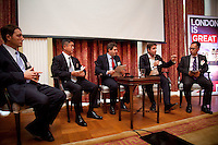 OCTOBER 15, 2015 -TOKYO, JAPAN:  Delegates at an event at the British Embassy in Tokyo, to encourage collaboration between London and Japan in financial technology.  (Photo / Ko Sasaki  )