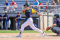Beloit Snappers first baseman Luke Persico (8) swings at a pitch during a Midwest League game against the Cedar Rapids Kernels on September 3, 2017 at Pohlman Field in Beloit, Wisconsin. Beloit defeated Cedar Rapids 3-2. (Brad Krause/Four Seam Images)