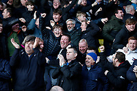 1st February 2020; Vicarage Road, Watford, Hertfordshire, England; English Premier League Football, Watford versus Everton; Everton fans celebrating after Yerry Mina of Everton scored his sides 2nd goal in the 46th minute to make it 2-2