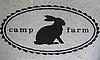 Custom retail signs - Camp Farm medallion
