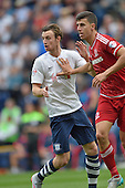 09/08/2015 Sky Bet League Championship Preston North End v Middlesbrough <br /> Will Keane, Daniel Ayala