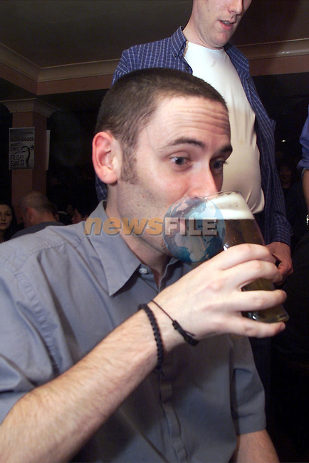 Brian Murphy pictured enjoying a night in McHughs..Picture: Arthur Carron/Newsfile