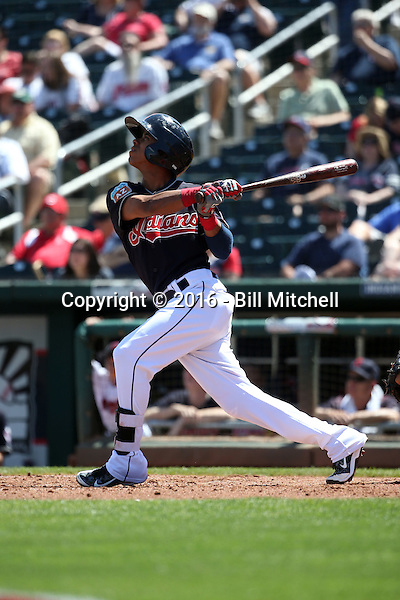 Yhoxian Medina - Cleveland Indians 2016 spring training (Bill Mitchell)