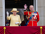 "QUEEN AND PRINCE PHILIP ( who appears a bit frail).TROOPING THE COLOUR_Duke of Edinburgh Makes 1st Appearance since being hospitalised.The event marks the Queen's Official Birthday, The Mall, London_16th May 2012.Photo Credit: ©Dias/DIASIMAGES..**ALL FEES PAYABLE TO: ""NEWSPIX INTERNATIONAL""**..PHOTO CREDIT MANDATORY!!: NEWSPIX INTERNATIONAL..IMMEDIATE CONFIRMATION OF USAGE REQUIRED:.Newspix International, 31 Chinnery Hill, Bishop's Stortford, ENGLAND CM23 3PS.Tel:+441279 324672  ; Fax: +441279656877.Mobile:  0777568 1153.e-mail: info@newspixinternational.co.uk"