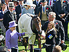 """QUEEN WINS QUEEN'S VASE AT ROYAL ASCOT..The Queen was a winner with her horse Estimate in the second last race of the day..The trophy was presented to her by Prince Philip, Day 4 Royal Ascot, Ascot_22/06/2012.Mandatory Credit Photo: ©Dias/NEWSPIX INTERNATIONAL..**ALL FEES PAYABLE TO: """"NEWSPIX INTERNATIONAL""""**..IMMEDIATE CONFIRMATION OF USAGE REQUIRED:.Newspix International, 31 Chinnery Hill, Bishop's Stortford, ENGLAND CM23 3PS.Tel:+441279 324672  ; Fax: +441279656877.Mobile:  07775681153.e-mail: info@newspixinternational.co.uk"""