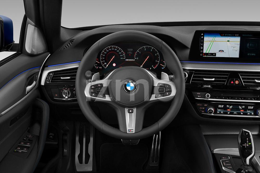 Car pictures of steering wheel view of a 2019 BMW 5-Series - 5 Door Wagon Steering Wheel