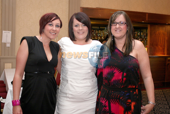 Paula Brennan, Michelle Dixon and Joanne Reilly at the Full Monty in Aid of The Jack and Jill Foundation in The Westcourt Hotel...Photo NEWSFILE/Jenny Matthews.(Photo credit should read Jenny Matthews/NEWSFILE)....This Picture has been sent you under the condtions enclosed by:.Newsfile Ltd..The Studio,.Millmount Abbey,.Drogheda,.Co Meath..Ireland..Tel: +353(0)41-9871240.Fax: +353(0)41-9871260.GSM: +353(0)86-2500958.email: pictures@newsfile.ie.www.newsfile.ie.FTP: 193.120.102.198.