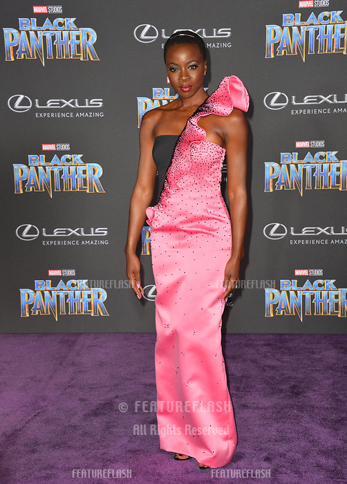 """Danai Gurira at the world premiere for """"Black Panther"""" at the Dolby Theatre, Hollywood, USA 29 Jan. 2018<br /> Picture: Paul Smith/Featureflash/SilverHub 0208 004 5359 sales@silverhubmedia.com"""