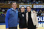 DURHAM, NC - NOVEMBER 24: Duke's Emma Paradiso (TUR) was honored with her family on Senior Day. The Duke University Blue Devils hosted the University of North Carolina Tar Heels on November 24, 2017 at Cameron Indoor Stadium in Durham, NC in a Division I women's college volleyball match. Duke won 3-0 (25-21, 25-22, 25-20).