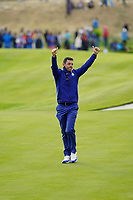 Rory McIlroy (Team Europe) after the singles matches at the Ryder Cup, Le Golf National, Ile-de-France, France. 30/09/2018.<br /> Picture Fran Caffrey / Golffile.ie<br /> <br /> All photo usage must carry mandatory copyright credit (&copy; Golffile | Fran Caffrey)