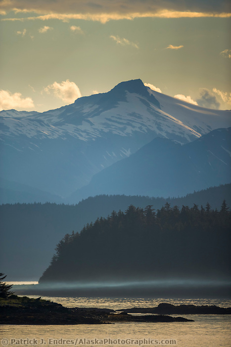 Chilkat Mountains viewed from the entrance to Auk Bay, Juneau, Alaska