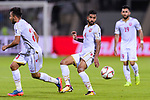Sayed Dhiya Saeed of Bahrain (R) in action during the AFC Asian Cup UAE 2019 Group A match between India (IND) and Bahrain (BHR) at Sharjah Stadium on 14 January 2019 in Sharjah, United Arab Emirates. Photo by Marcio Rodrigo Machado / Power Sport Images