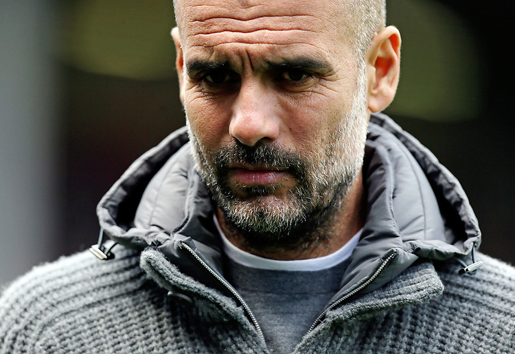 Manchester City manager Josep Guardiola <br /> <br /> Photographer Rich Linley/CameraSport<br /> <br /> The Premier League - Burnley v Manchester City - Sunday 28th April 2019 - Turf Moor - Burnley<br /> <br /> World Copyright © 2019 CameraSport. All rights reserved. 43 Linden Ave. Countesthorpe. Leicester. England. LE8 5PG - Tel: +44 (0) 116 277 4147 - admin@camerasport.com - www.camerasport.com
