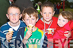 &nbsp;ICE CREAM: Enjoying their ice cream on Sunday at the Kerry Harvest Fair at Kingdom Mart, Tralee, l-r: Darragh Kennelly (Lisselton) Jack Flynn (Cordal), Shane and Emma Kennelly (Lisselton).<br />
