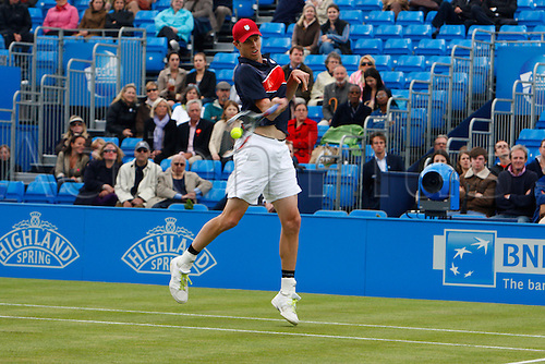 15.06.12 Queens Club, London, ENGLAND: ..Sam Querrey USA..Sam Querrey USA versus Ivan Dodig CRO..during day five of the Aegon Championships at Queens Club ..on June 15, 2012 in London , England.........