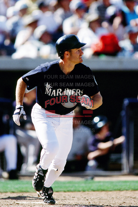 David Bell of the Seattle Mariners during a game against the Anaheim Angels at Angel Stadium circa 1999 in Anaheim, California. (Larry Goren/Four Seam Images)