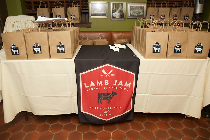 New York, NY - September 19, 2016:  The American Lamb Board hosts winners of the 2016 Lamb Jam Global Flavors Tour to prepare dinner at the James Beard House in Greenwich Village.<br /> <br /> CREDIT: Clay Williams for the James Beard Foundation.<br /> <br /> &copy; Clay Williams / claywilliamsphoto.com
