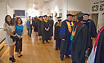 Faculty and students prepare to enter the auditorium at the Barkley Theatre at the Western Nevada College commencement in Fallon, Nev., on Tuesday, May 20, 2014. <br /> Photo by Kim Lamb