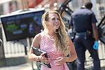 August 22, 2020: Maggie Wolfendale on The FourStarDave day at Saratoga Race Course in Saratoga Springs, New York. Rob Simmons/CSM