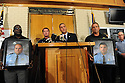 St. John the Baptist Parish Sheriff Mike Tregre, with Louisiana State Police Colonel Mike Edlmonson, left, speaks at a press conference after an early morning shooting at a Steel plant parking lot left two police officers dead and at least two civilians injured in Laplace, Louisiana August 16, 2012.  REUTERS/Cheryl Gerber  (UNITED STATES)