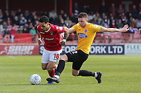 Corey Whitely of Ebbsfleet and Doug Loft of Dagenham and Redbridge during Ebbsfleet United vs Dagenham & Redbridge, Vanarama National League Football at The Kuflink Stadium on 13th April 2019