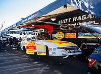 Feb 23, 2018; Chandler, AZ, USA; NHRA funny car driver Matt Hagan during qualifying for the Arizona Nationals at Wild Horse Pass Motorsports Park. Mandatory Credit: Mark J. Rebilas-USA TODAY Sports