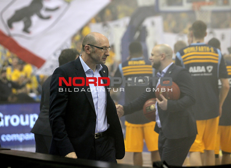 15.05.2015, O2 world, Berlin, GER, 1.BBL, ALBA Berlin vs. EWE Baskets Oldenburg, im Bild Mladen Drijencic (Baskets Oldenburg), Enttaeuschung, enttaeuscht, Frust, frustriert, traurig, ungluecklich, negative Emotionen,<br /> <br />               <br /> Foto &copy; nordphoto /  Engler