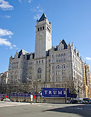 The Trump International Hotel under construction in Washington, DC on March 6, 2016.  It is located at 1100 Pennsylvania Avenue, NW in an 1899 vintage building known as the Old Post Office Pavilion that was later officially renamed the Nancy Hanks Center.  When complete, the renovation and conversion to a 260 room luxury hotel will cost $200 million.  <br /> Credit: Ron Sachs / CNP