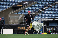 SEATTLE, WA - NOVEMBER 9: Assistant coach Dan Calichman of Toronto FC at CenturyLink Field on November 9, 2019 in Seattle, Washington.