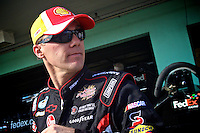 NASCAR championship contender Kevin Harvick walks through the garage at Homestead-Miami Speedway in Homestead, FL on Saturday, November 20, 2010, the day before the Sprint Cup finale.(Photo by Brian Cleary/www.bcpix.com)
