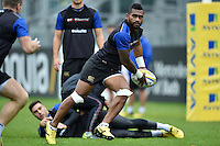 Niko Matawalu of Bath Rugby looks to pass the ball. Bath Rugby Captain's Run on October 30, 2015 at the Recreation Ground in Bath, England. Photo by: Patrick Khachfe / Onside Images