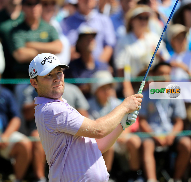 Branden GRACE (RSA) tees off the 1st tee to start his match during Sunday's Final Round of the 2015 U.S. Open 115th National Championship held at Chambers Bay, Seattle, Washington, USA. 6/21/2015.<br /> Picture: Golffile   Eoin Clarke<br /> <br /> <br /> <br /> <br /> All photo usage must carry mandatory copyright credit (&copy; Golffile   Eoin Clarke)