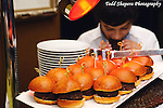 Hamburger tray at elegant  Bat Mitzvah at the 65th floor ballroom of the  Mandarin Oriental Hotel.  ..