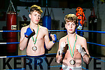 St Margaret's Boxing Club member Paddy Walsh, Kenmare, and Daniel Henrickson, Tralee winners of bronze at Smithfield Box Fest European Games last weekend