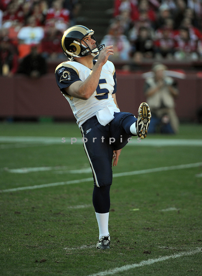 DONNIE JONES, of the St. Louis Rams, in action during the Rams game against the San Francisco 49ers on December 4, 2011 at Candlestick Park in San Francisco, CA. The 49ers beat the Rams 26-0.