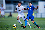 Hin Ting Lam of Dreams FC (L) fights for the ball with Lam Zhi Gin of SC Kitchee (R) during the week two Premier League match between Kitchee and Dreams FC at on September 10, 2017 in Hong Kong, China. Photo by Marcio Rodrigo Machado / Power Sport Images