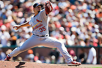 13 April 2008: #35 Joel Pineiro pitches during the San Francisco Giants 7-4 victory over the St. Louis Cardinals at the AT&T Park in San Francisco, CA.