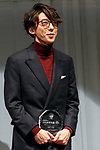 Japanese actor Issey Takahashi poses for the cameras during the 30th Japan Best Dressed Eyes Awards at Tokyo Big Sight on October 11, 2017, Tokyo, Japan. The event featured Japanese celebrities who were recognized for their fashionable eyewear. (Photo by Rodrigo Reyes Marin/AFLO)