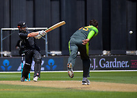 Kane Williamson bats during the One Day International cricket match between the NZ Black Caps and Pakistan at the Basin Reserve in Wellington, New Zealand on Saturday, 6 January 2018. Photo: Dave Lintott / lintottphoto.co.nz