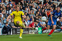 Christian Ribeiro of Oxford United during the Sky Bet League 1 match between Peterborough and Oxford United at the ABAX Stadium, London Road, Peterborough, England on 30 September 2017. Photo by David Horn.