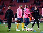 Atletico's Diego Costa warms up during the Europa League Semi Final 1st Leg, match at the Emirates Stadium, London. Picture date: 26th April 2018. Picture credit should read: David Klein/Sportimage